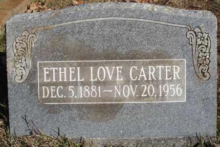 LOVE CARTER, ETHEL - Conway County, Arkansas | ETHEL LOVE CARTER - Arkansas Gravestone Photos
