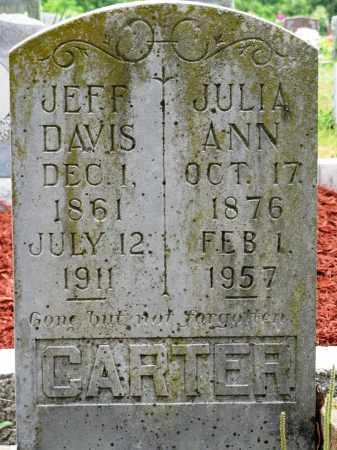 CARTER, JULIA ANN - Conway County, Arkansas | JULIA ANN CARTER - Arkansas Gravestone Photos