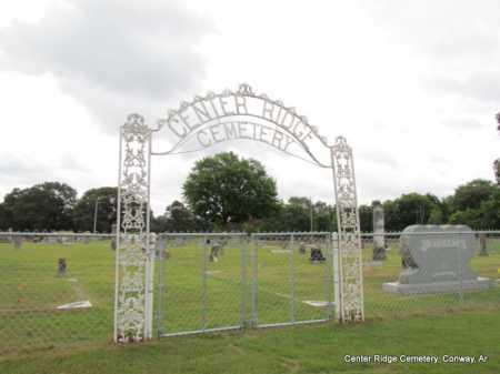 *CENTER RIDGE CEMETERY GATE,  - Conway County, Arkansas |  *CENTER RIDGE CEMETERY GATE - Arkansas Gravestone Photos