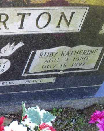 CHARTON, RUBY KATHERINE - Conway County, Arkansas | RUBY KATHERINE CHARTON - Arkansas Gravestone Photos