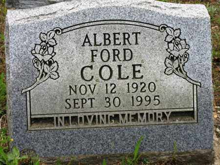 COLE, ALBERT FORD - Conway County, Arkansas | ALBERT FORD COLE - Arkansas Gravestone Photos