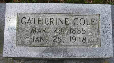 COLE, CATHERINE - Conway County, Arkansas | CATHERINE COLE - Arkansas Gravestone Photos