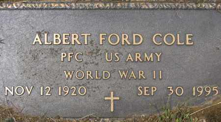 COLE (VETERAN WWII), ALBERT FORD - Conway County, Arkansas   ALBERT FORD COLE (VETERAN WWII) - Arkansas Gravestone Photos