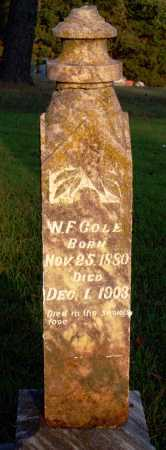COLE, W F - Conway County, Arkansas   W F COLE - Arkansas Gravestone Photos