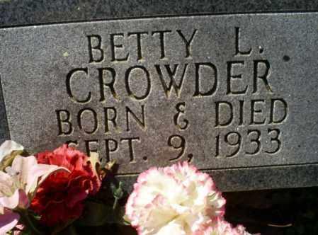 CROWDER, BETTY L. - Conway County, Arkansas | BETTY L. CROWDER - Arkansas Gravestone Photos