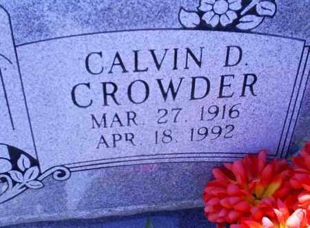 CROWDER, CALVIN D. - Conway County, Arkansas   CALVIN D. CROWDER - Arkansas Gravestone Photos