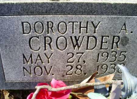 CROWDER, DOROTHY A. - Conway County, Arkansas   DOROTHY A. CROWDER - Arkansas Gravestone Photos