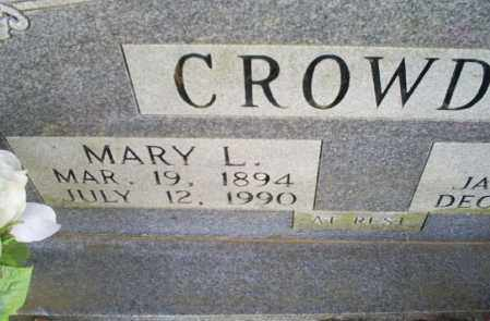 CROWDER, MARY L. - Conway County, Arkansas | MARY L. CROWDER - Arkansas Gravestone Photos