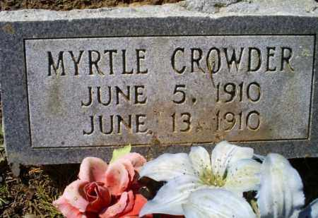 CROWDER, MYRTLE - Conway County, Arkansas | MYRTLE CROWDER - Arkansas Gravestone Photos