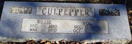 CULPEPPER, WILLIE - Conway County, Arkansas | WILLIE CULPEPPER - Arkansas Gravestone Photos