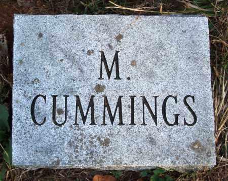 CUMMINGS, M. - Conway County, Arkansas | M. CUMMINGS - Arkansas Gravestone Photos