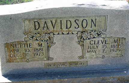 DAVIDSON, NETTIE M. - Conway County, Arkansas | NETTIE M. DAVIDSON - Arkansas Gravestone Photos