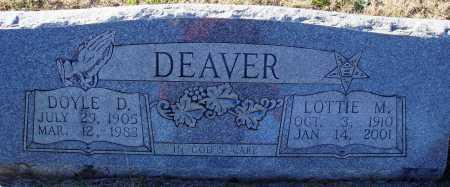 DEAVER, DOYLE D. - Conway County, Arkansas | DOYLE D. DEAVER - Arkansas Gravestone Photos