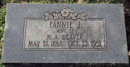 DEAVER, FANNIE J. - Conway County, Arkansas   FANNIE J. DEAVER - Arkansas Gravestone Photos