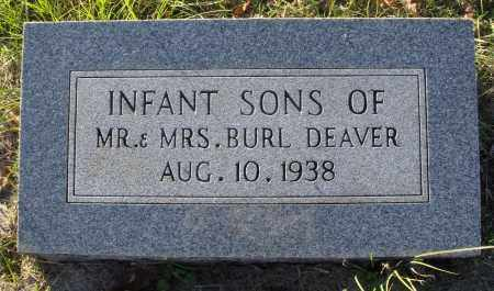 DEAVER, INFANT SONS - Conway County, Arkansas   INFANT SONS DEAVER - Arkansas Gravestone Photos