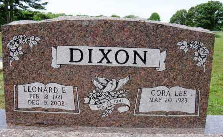 DIXON, LEONARD E - Conway County, Arkansas   LEONARD E DIXON - Arkansas Gravestone Photos