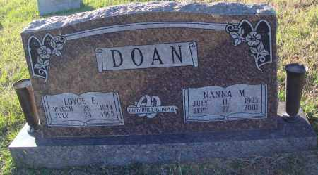 DOAN, LOYCE E. - Conway County, Arkansas | LOYCE E. DOAN - Arkansas Gravestone Photos