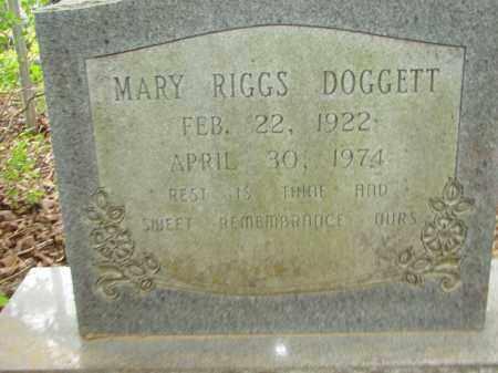RIGGS DOGGETT, MARY - Conway County, Arkansas | MARY RIGGS DOGGETT - Arkansas Gravestone Photos
