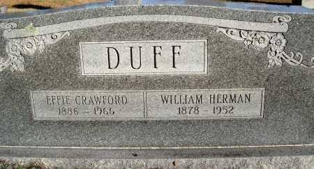 CRAWFORD DUFF, EFFIE - Conway County, Arkansas | EFFIE CRAWFORD DUFF - Arkansas Gravestone Photos
