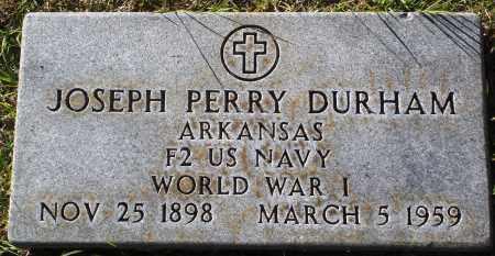 DURHAM  (VETERAN WWI), JOSEPH PERRY - Conway County, Arkansas   JOSEPH PERRY DURHAM  (VETERAN WWI) - Arkansas Gravestone Photos