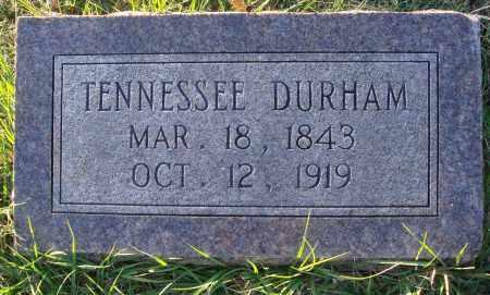 DURHAM, TENNESSEE - Conway County, Arkansas   TENNESSEE DURHAM - Arkansas Gravestone Photos