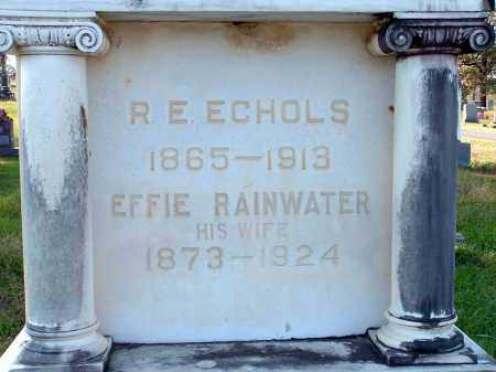 RAINWATER ECHOLS, EFFIE - Conway County, Arkansas | EFFIE RAINWATER ECHOLS - Arkansas Gravestone Photos