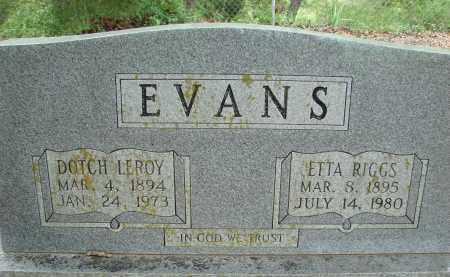 EVANS, DOTCH LEROY - Conway County, Arkansas | DOTCH LEROY EVANS - Arkansas Gravestone Photos