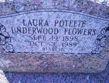 POTEETE FLOWERS, LAURA - Conway County, Arkansas | LAURA POTEETE FLOWERS - Arkansas Gravestone Photos