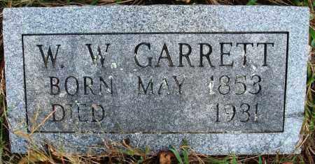 GARRETT, W W - Conway County, Arkansas   W W GARRETT - Arkansas Gravestone Photos