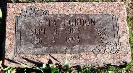 GORDON, ETTA - Conway County, Arkansas | ETTA GORDON - Arkansas Gravestone Photos