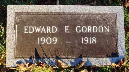 GORDON, EDWARD E - Conway County, Arkansas | EDWARD E GORDON - Arkansas Gravestone Photos