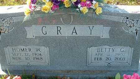 GRAY, HOMER W. - Conway County, Arkansas | HOMER W. GRAY - Arkansas Gravestone Photos