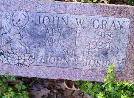 GRAY, JOHN W. - Conway County, Arkansas | JOHN W. GRAY - Arkansas Gravestone Photos