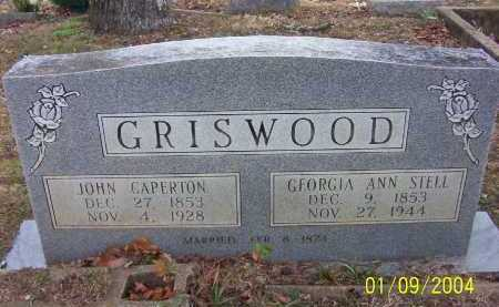 STELL GRISWOOD, GEORGIA ANN - Conway County, Arkansas | GEORGIA ANN STELL GRISWOOD - Arkansas Gravestone Photos