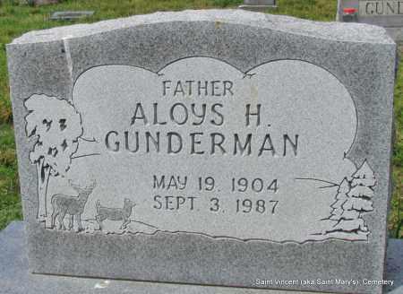 GUNDERMAN, ALOYS H - Conway County, Arkansas | ALOYS H GUNDERMAN - Arkansas Gravestone Photos