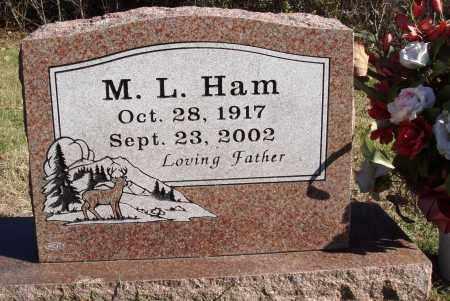 HAM, M. L. - Conway County, Arkansas | M. L. HAM - Arkansas Gravestone Photos