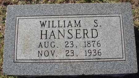 HANSERD, WILLIAM S. - Conway County, Arkansas | WILLIAM S. HANSERD - Arkansas Gravestone Photos