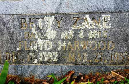 HARWOOD, BETTY ZANE - Conway County, Arkansas | BETTY ZANE HARWOOD - Arkansas Gravestone Photos