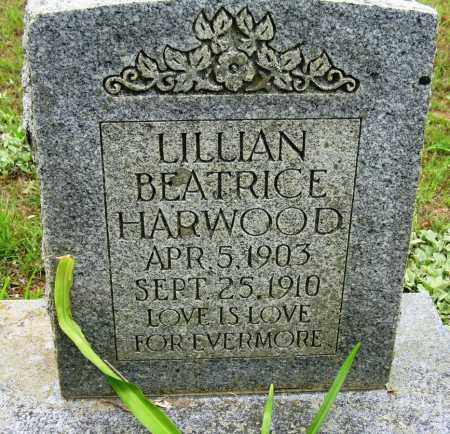HARWOOD, LILLIAN BEATRICE - Conway County, Arkansas   LILLIAN BEATRICE HARWOOD - Arkansas Gravestone Photos
