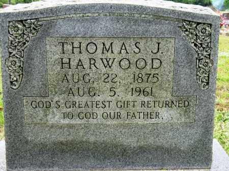 HARWOOD, THOMAS J - Conway County, Arkansas | THOMAS J HARWOOD - Arkansas Gravestone Photos