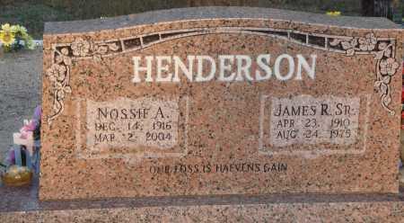 HENDERSON, SR, JAMES R. SR. - Conway County, Arkansas | JAMES R. SR. HENDERSON, SR - Arkansas Gravestone Photos