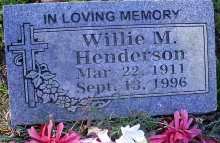HENDERSON, WILLIE M. - Conway County, Arkansas | WILLIE M. HENDERSON - Arkansas Gravestone Photos