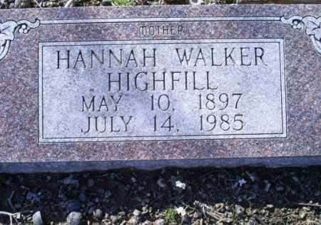 WALKER HIGHFIELD, HANNAH - Conway County, Arkansas   HANNAH WALKER HIGHFIELD - Arkansas Gravestone Photos