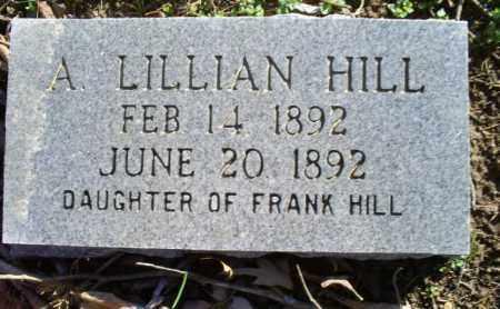 HILL, A. LILLIAN - Conway County, Arkansas | A. LILLIAN HILL - Arkansas Gravestone Photos