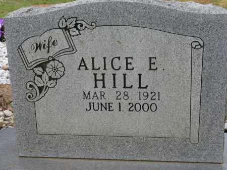 HILL, ALICE E - Conway County, Arkansas | ALICE E HILL - Arkansas Gravestone Photos