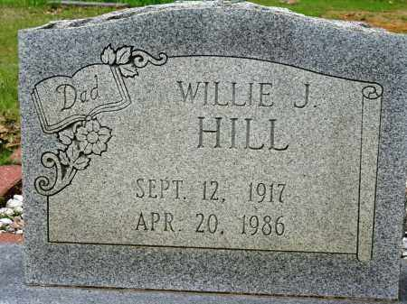 HILL, WILLIE J - Conway County, Arkansas | WILLIE J HILL - Arkansas Gravestone Photos
