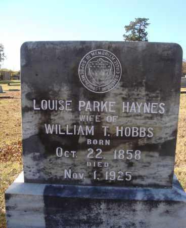 HOBBS, LOUISE PARKE - Conway County, Arkansas | LOUISE PARKE HOBBS - Arkansas Gravestone Photos