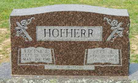 """HOFHERR, PETER ERNEST """"PETE"""" - Conway County, Arkansas 