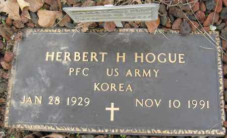 HOGUE (VETERAN KOR), HERBERT H - Conway County, Arkansas | HERBERT H HOGUE (VETERAN KOR) - Arkansas Gravestone Photos