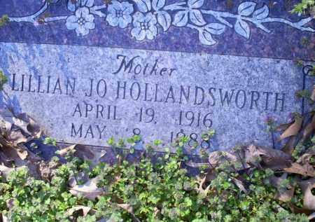 HOLLANDSWORTH, LILLIAN JO - Conway County, Arkansas   LILLIAN JO HOLLANDSWORTH - Arkansas Gravestone Photos